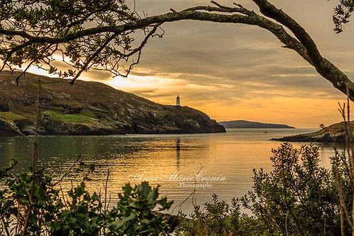 Sunrise over Ardnakinna  Lighthouse on Bere Island