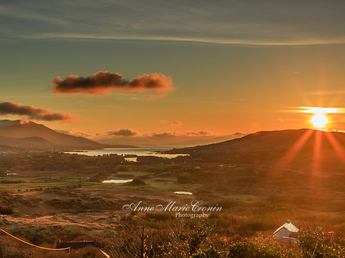 Sunrise at the Top of Gour, looking down on Castletownbere
