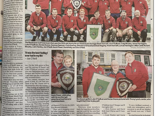Great coverage of the All Ireland Golf homecoming in this weeks  Southern Star