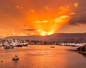 A beautiful sunset over Castletownbere,