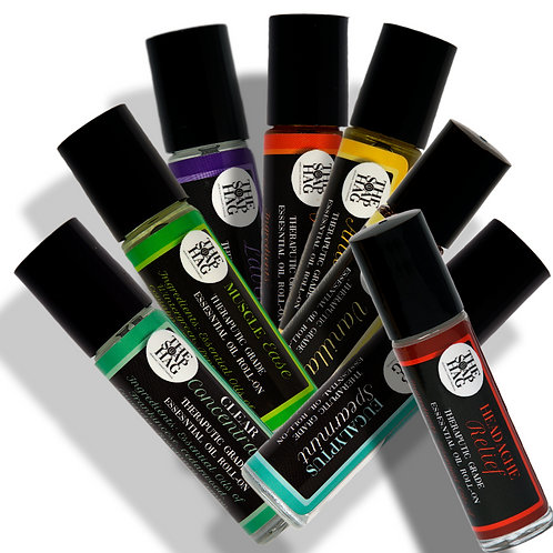 100% Pure Therapeutic Grade Essential Oil Roll Ons - Choose from 8 Blends