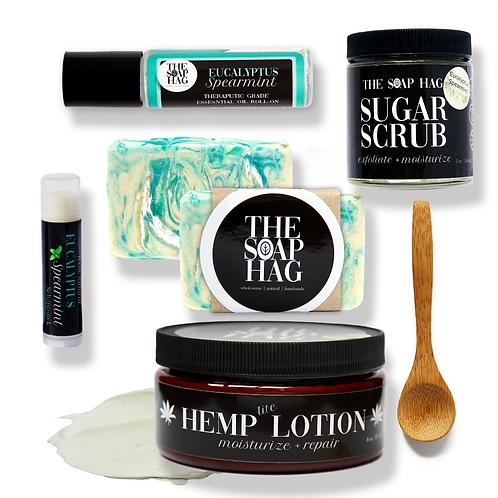Eucalyptus Spearmint Natural Skin Care Bundle | Gift Set for Him or Her