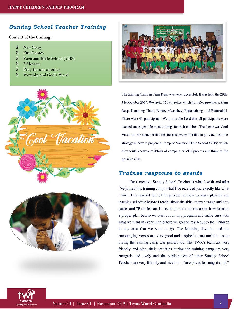 Happy Children Garden Newsletter for Nov