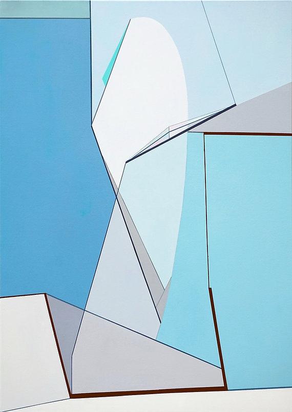 Simulation nr. 5, 155 x 110 cm acrylic o