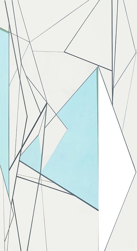 simulation, 2 .145 X 110 cm , acrylic on