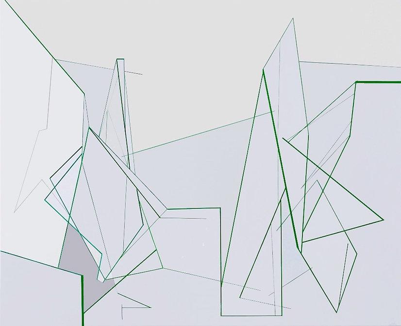 Simulation nr. 10, 180 x 220 cm , acryli
