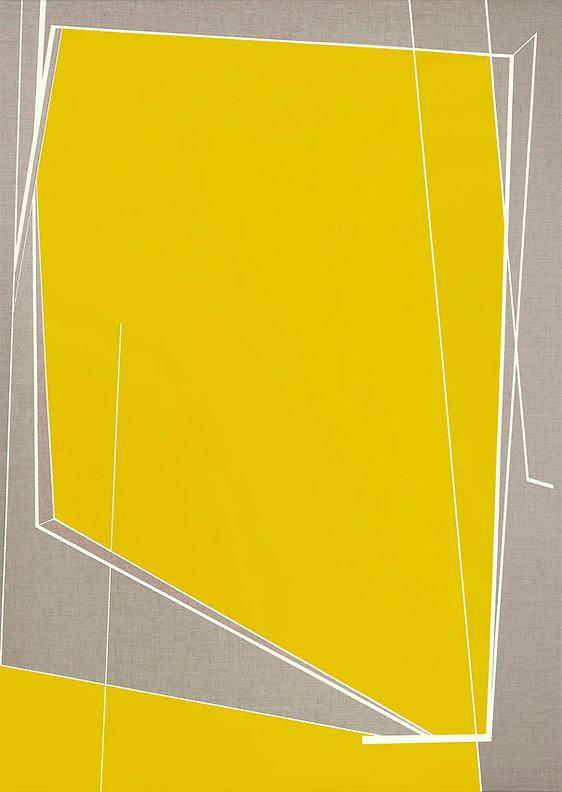Window 2 ( Yellow ) 155 x 110 cm , acryl