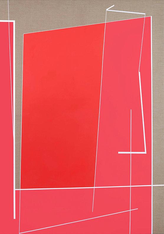 Window 1 ( red) 155 x110 cm, acrylic on