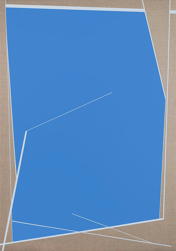 Window 3 ( Blue) 155 x 110 cm , acrylic