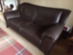 Large brown leather sofa after.JPG