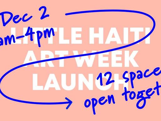 Little Haiti Art Week Launch