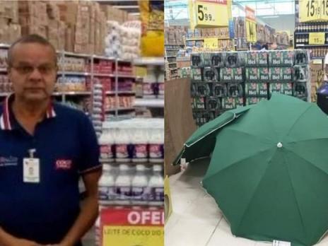 Trabalhador morre no Carrefour, corpo é coberto e loja continua funcionando