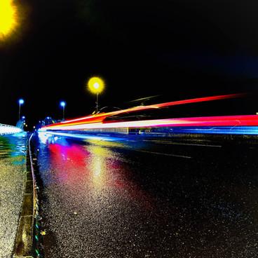Porsche  High Speed - Night Time High Speed Drive By