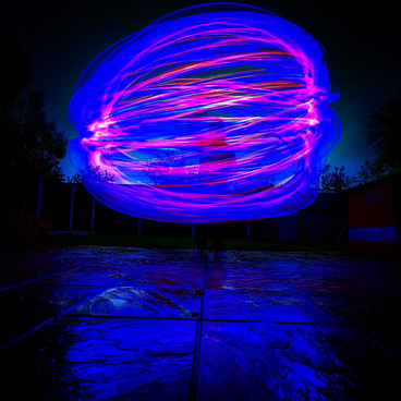 Night Photography - Light Painting -Creating Light Streaks For Light Painting