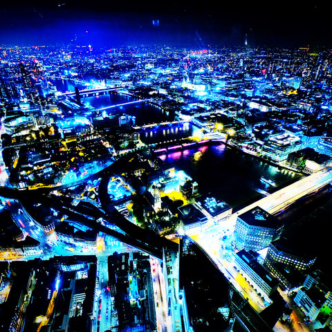 Birds Eye View Of London At Night A fantastic view of London 76 Floors High -