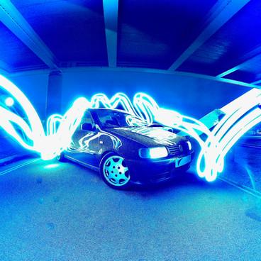 Volkswagen Polo Light Show - Volkswagen Polo Having A Fantastic Light Show
