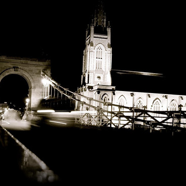 A Late Night Shot in High Wycombe - A Beautiful Bridge And Tower