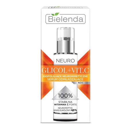 BIELENDA NEURO GLICOL+VIT.C Осветляющая омолаживающая сыворотка, 30 мл