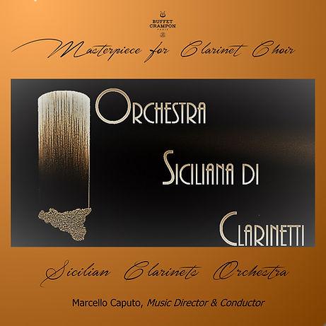 copertina Cd dal titolo masterpiece for clarinet choir
