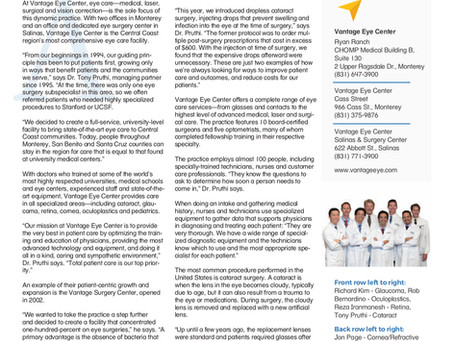 Vantage Eye Center featured in Health Matters Magazine
