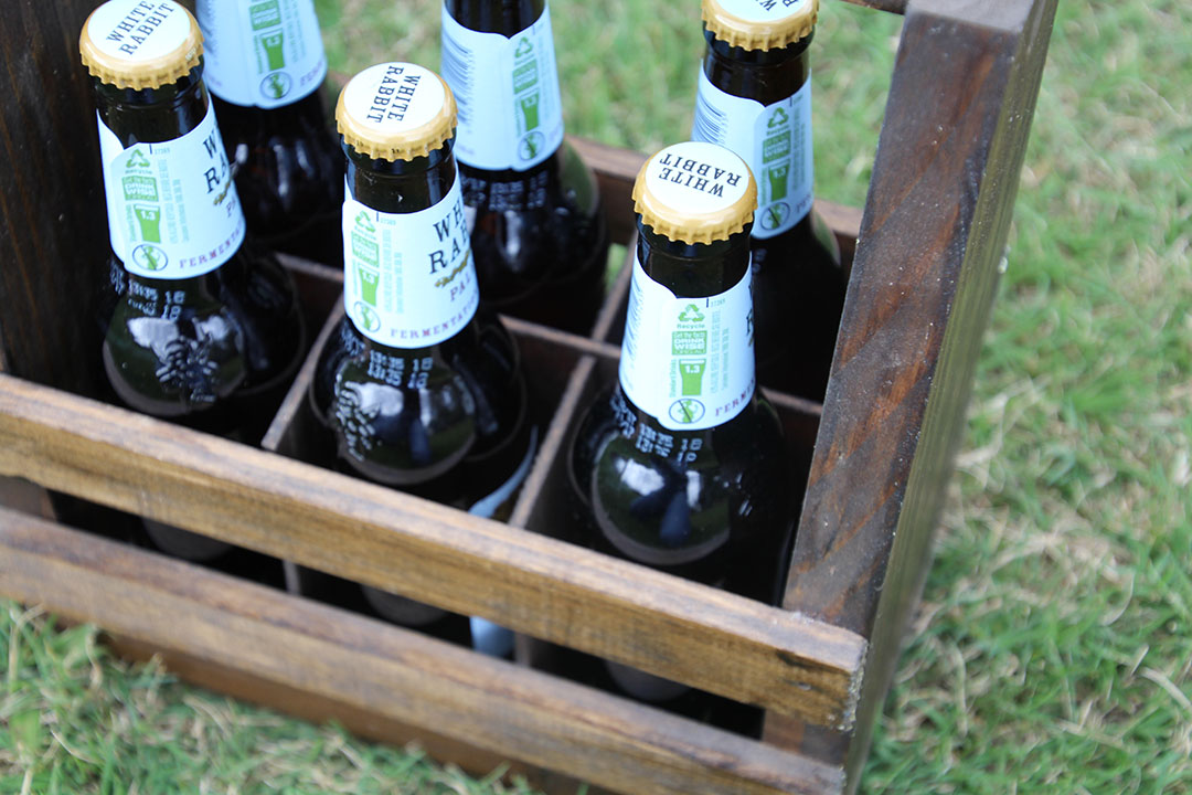 Rustic Timber Beer Carriers