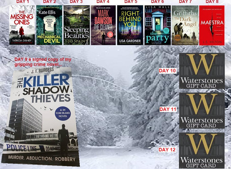 FREE books anyone? Get your hands on some gripping reads, with my 12 days of Christmas book giveaway