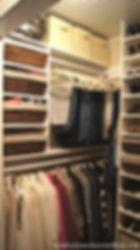 orderly closet