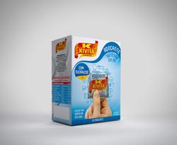 Caixa para sachê açúcar Kivita