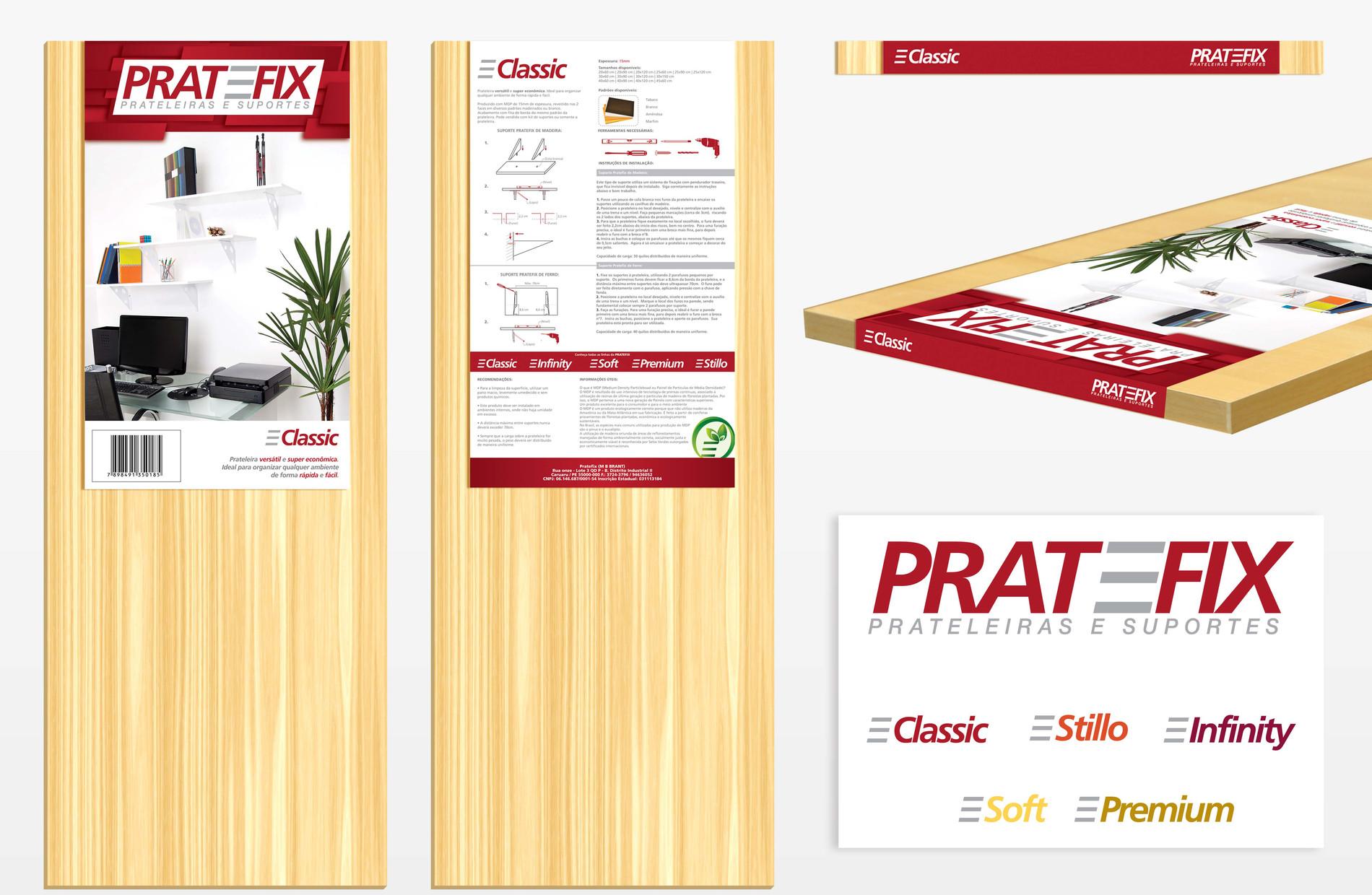 Rótulo Prateleira Pratefix