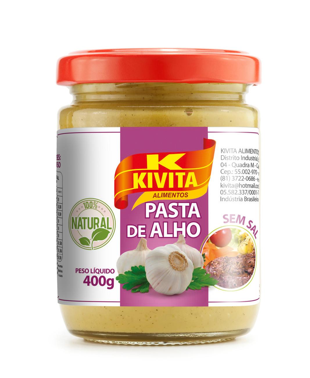 Vidro Pasta de Alho Kivita