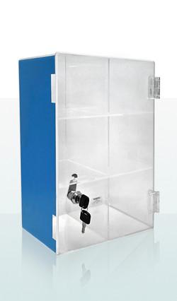 Skåp i Plexiglas m. lås