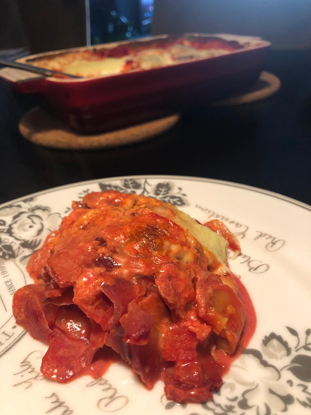 Fløtegratinerte poteter og rødbeter