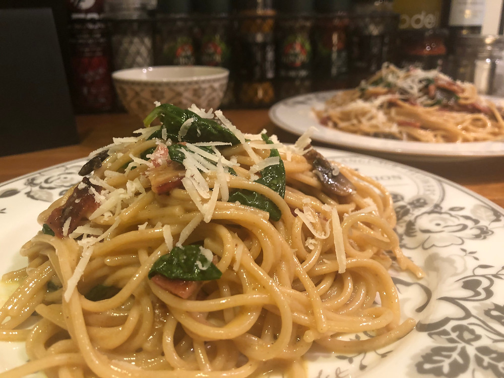 Litt sunnere pasta carbonara