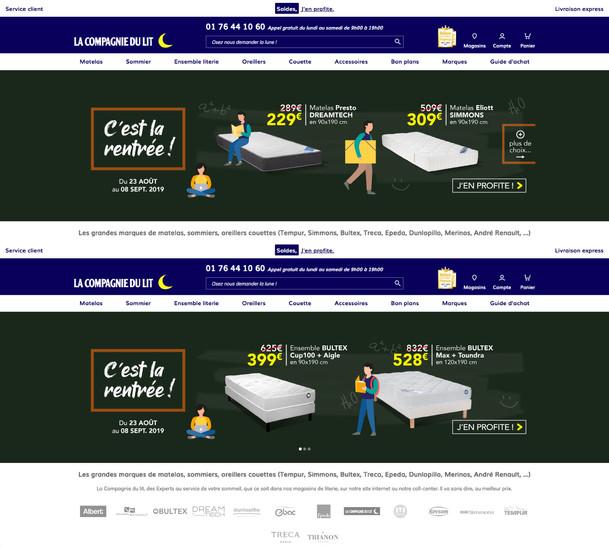 Slides Home Page site e-commerce