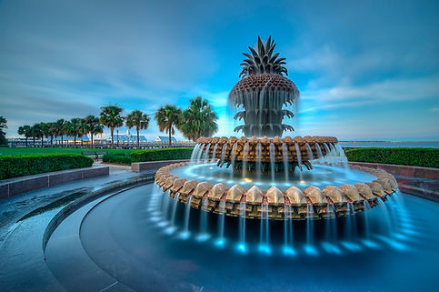 The Famous Pineapple Fountain in Charles