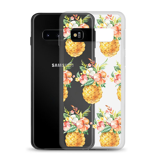 Floral Pineapple Samsung Case