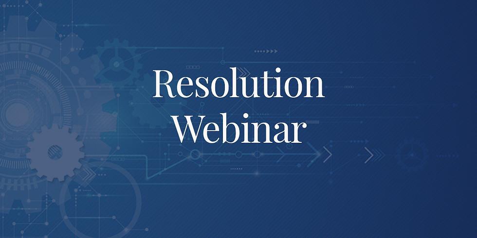 Resolution Webinar 14th May