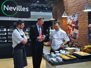 Rob with Mr Andrew Neville from Nevilles at Hotelympia