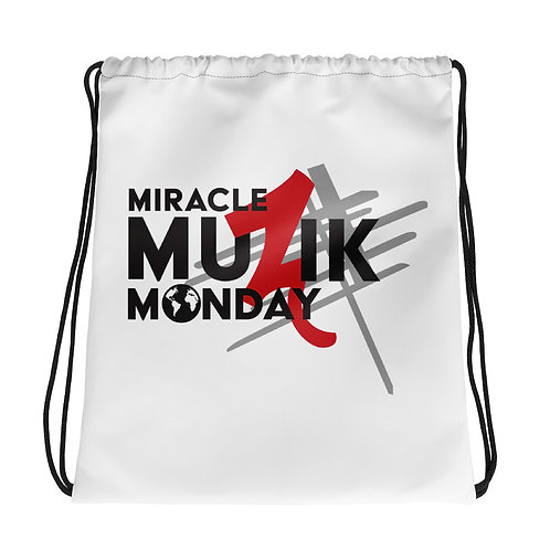 Miracle Muzik Monday Drawstring bag