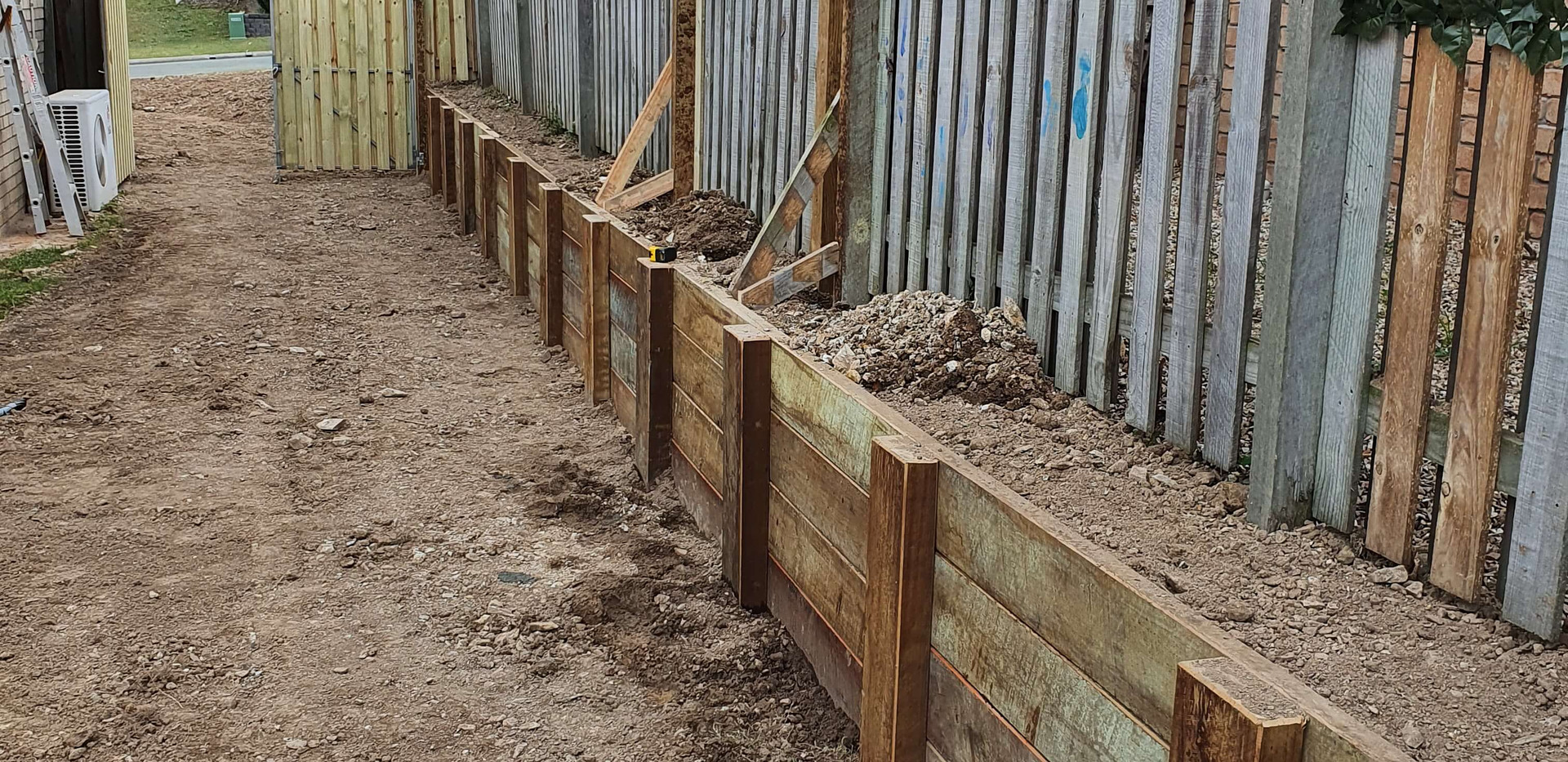 Retaining wall - 19m (after)