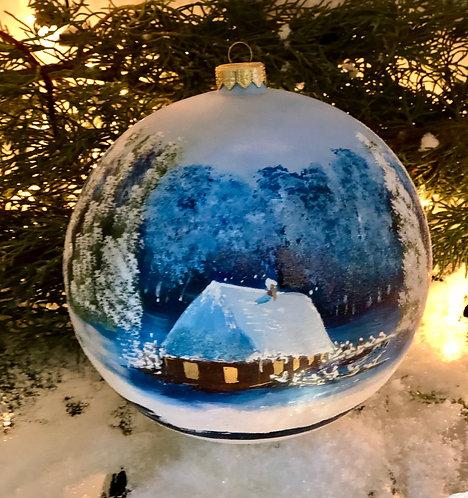 Zimowy pejzaż Chata
