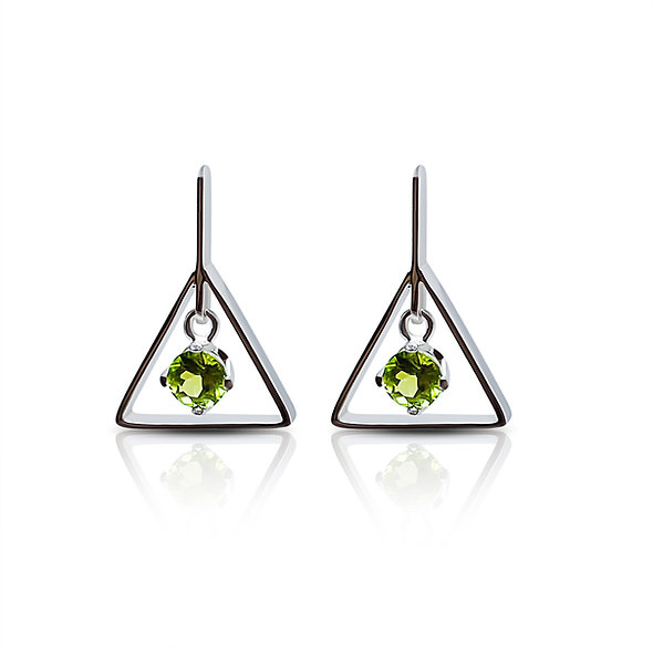Alchemy Earrings, peridot