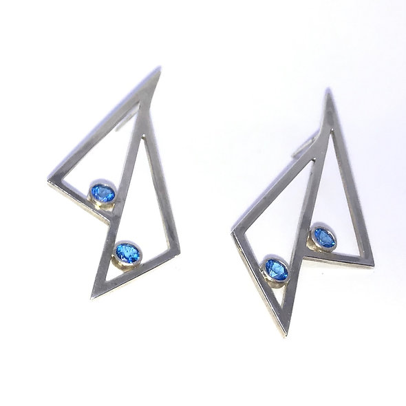 Double Tri Earrings