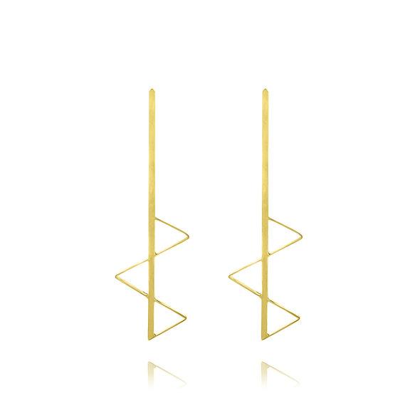 Geometric gold earrings Nora Fischer