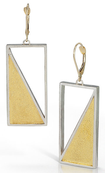 Captured Triangle Earrings