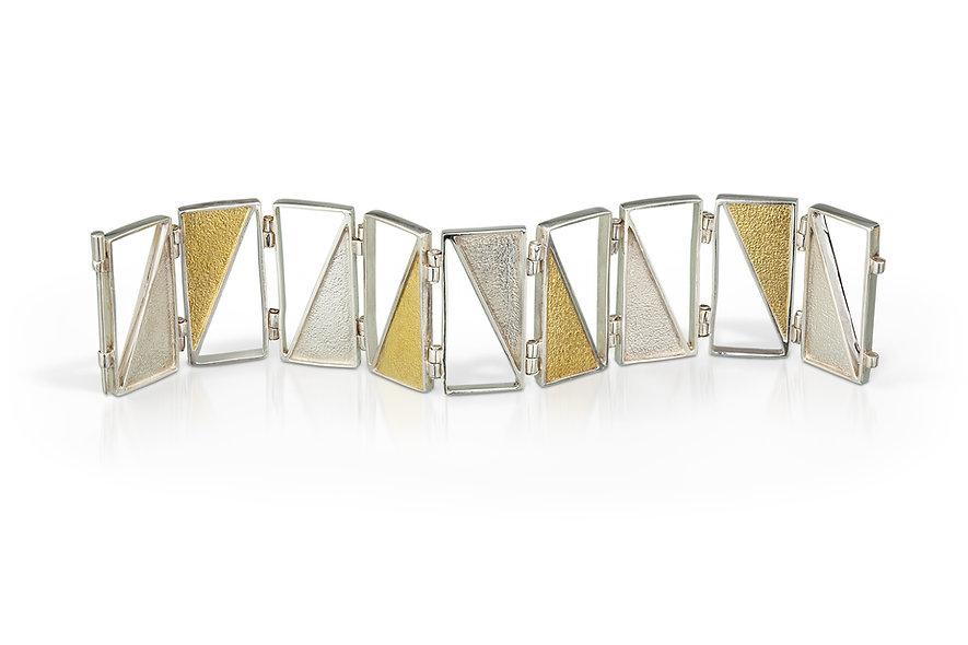 Captured Triangle Hinged Bracelet