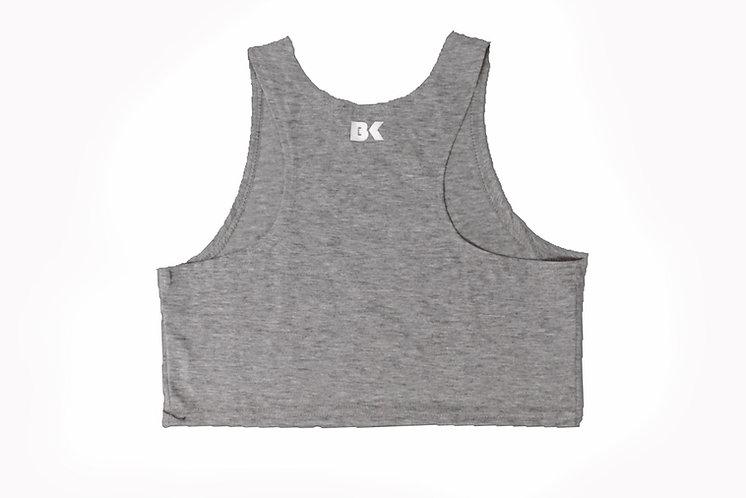 BK Grey Super Crop Top