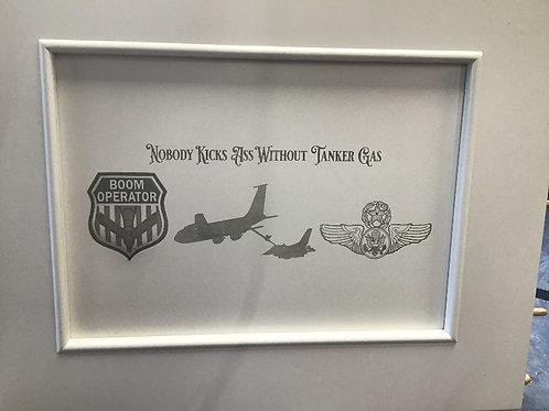 Wood boom plaque as displayed