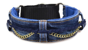 Jeansupcycling Halsband Selbermachen (ohne Knopf)