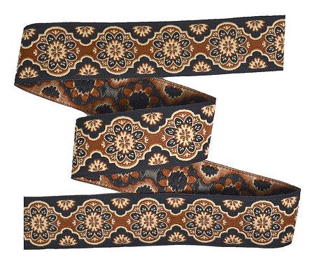 Webband Oriental Braun Schwarz 25mm